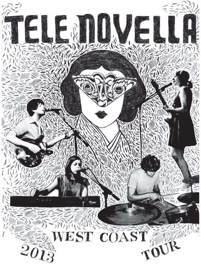 Tele Novella Tour Poster (design: Cari Palazollo)