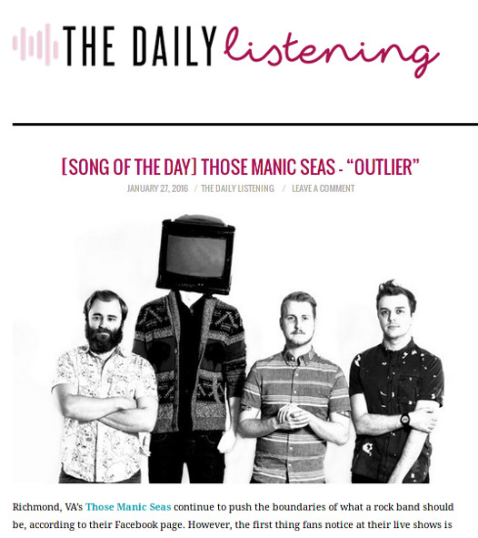 ThoseManicSeas_TheDailyListening